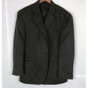 Mens Charcoal Faux Suede Mens Sports Coat Size 40S